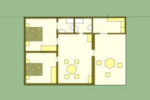 plan villa ravinala 84m²